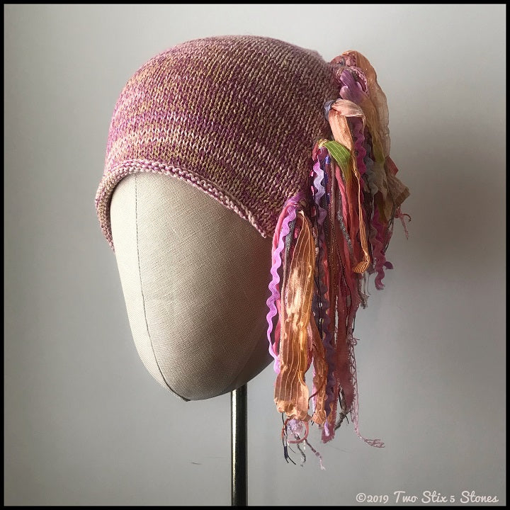 "Pink Tweed Signature ""Funky Chic Hat"""