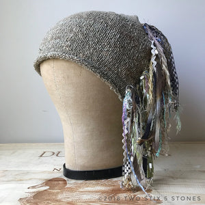 Puddy/Natural Tweed *Funky Chic Hat*