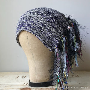 Oatmeal/Dark Tweed *Funky Chic Hat*