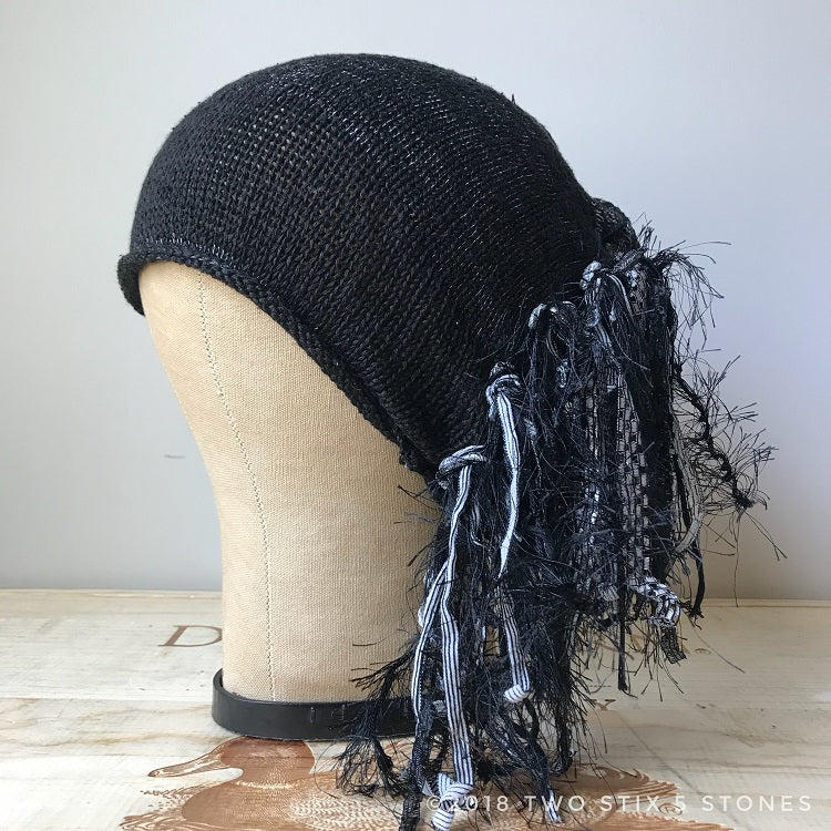 Black Tweed *Funky Chic Hat*