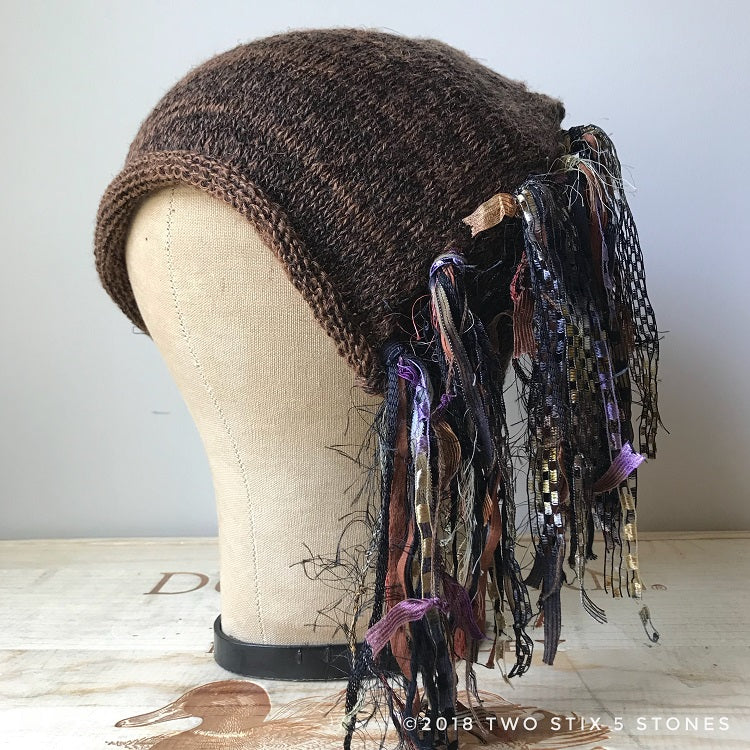Chocolate Brown Tweed *Funky Chic Hat*