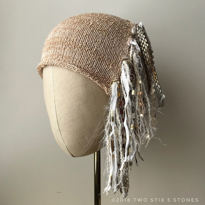 Cream Tweed *Funky Chic Hat*