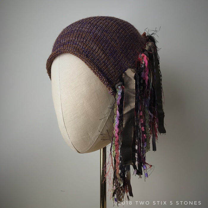Chocolate Tweed *Funky Chic Hat*