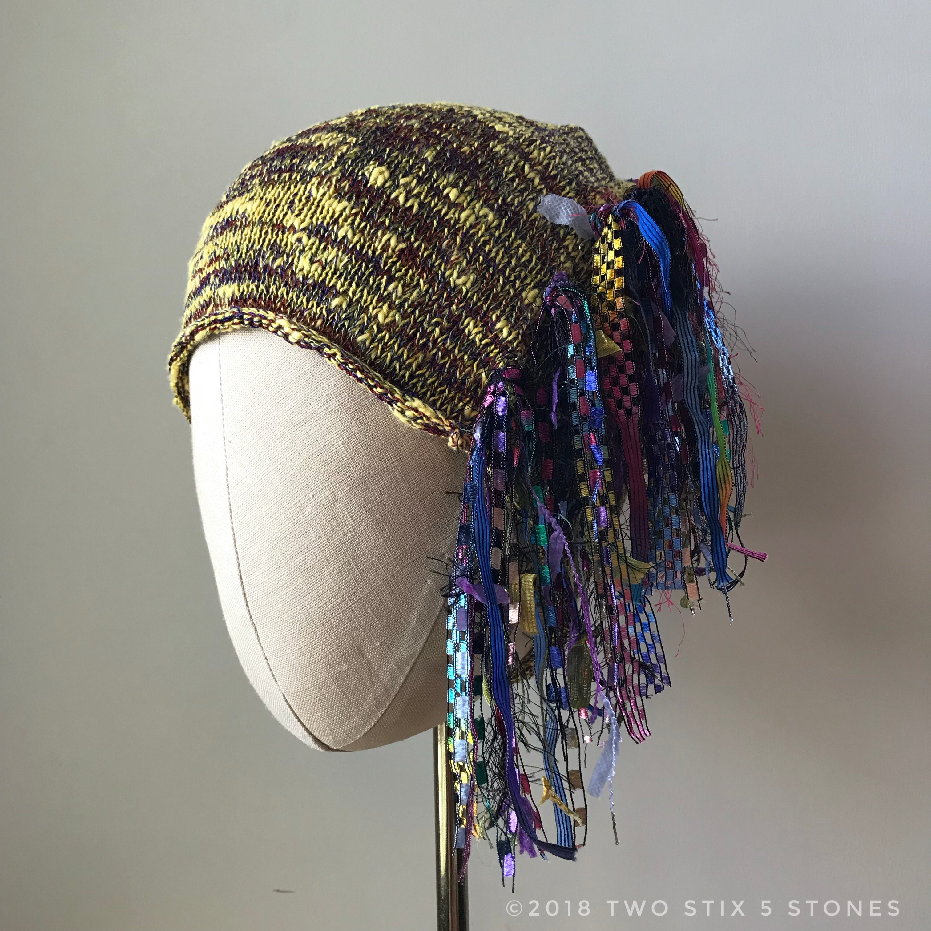 Yellow Tweed *Funky Chic Hat*