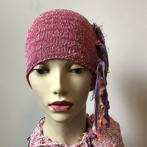 Hot Pink Tweed *Funky Chic Hat* (FH10)