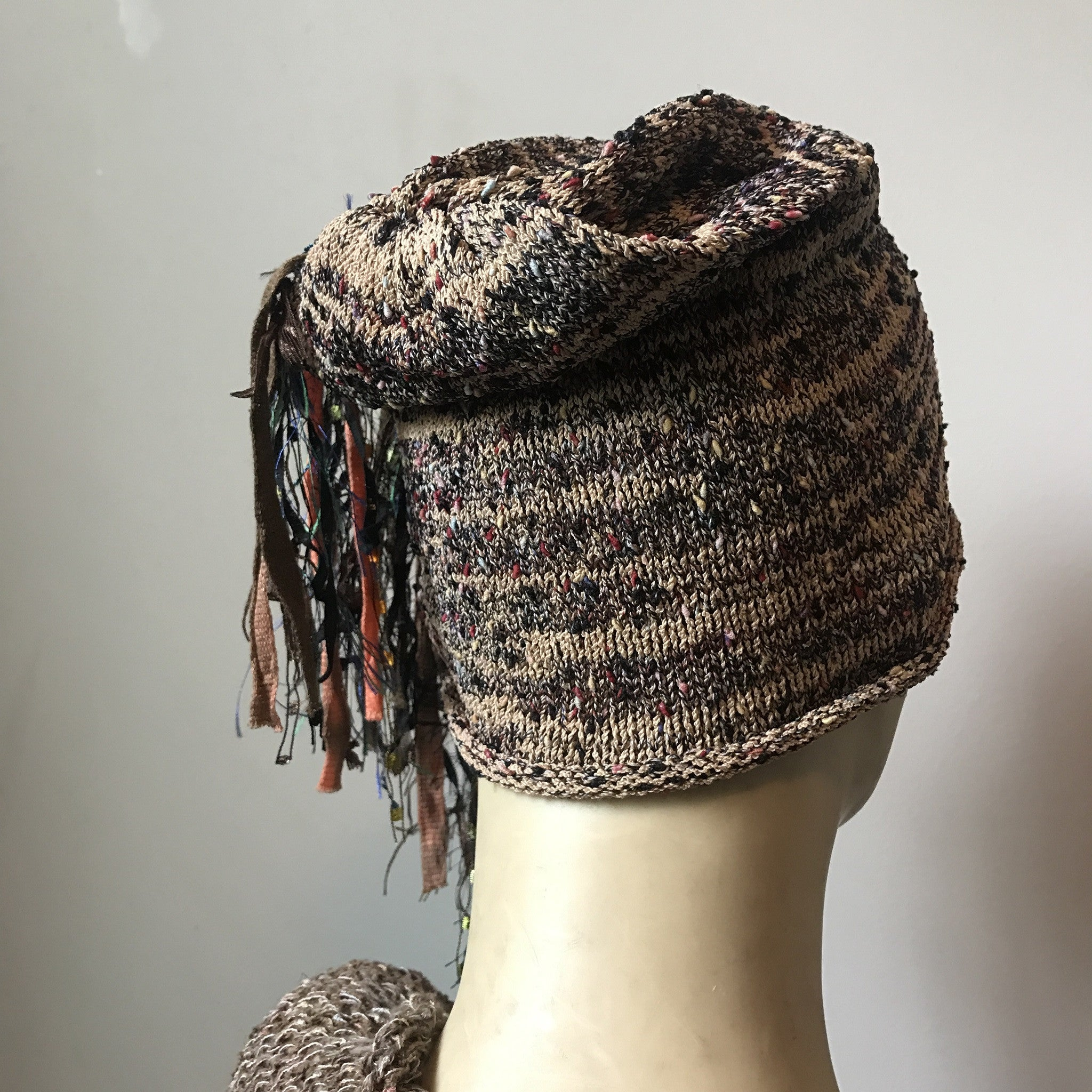 Brown Tweed *Funky Chic Hat* (FH15)