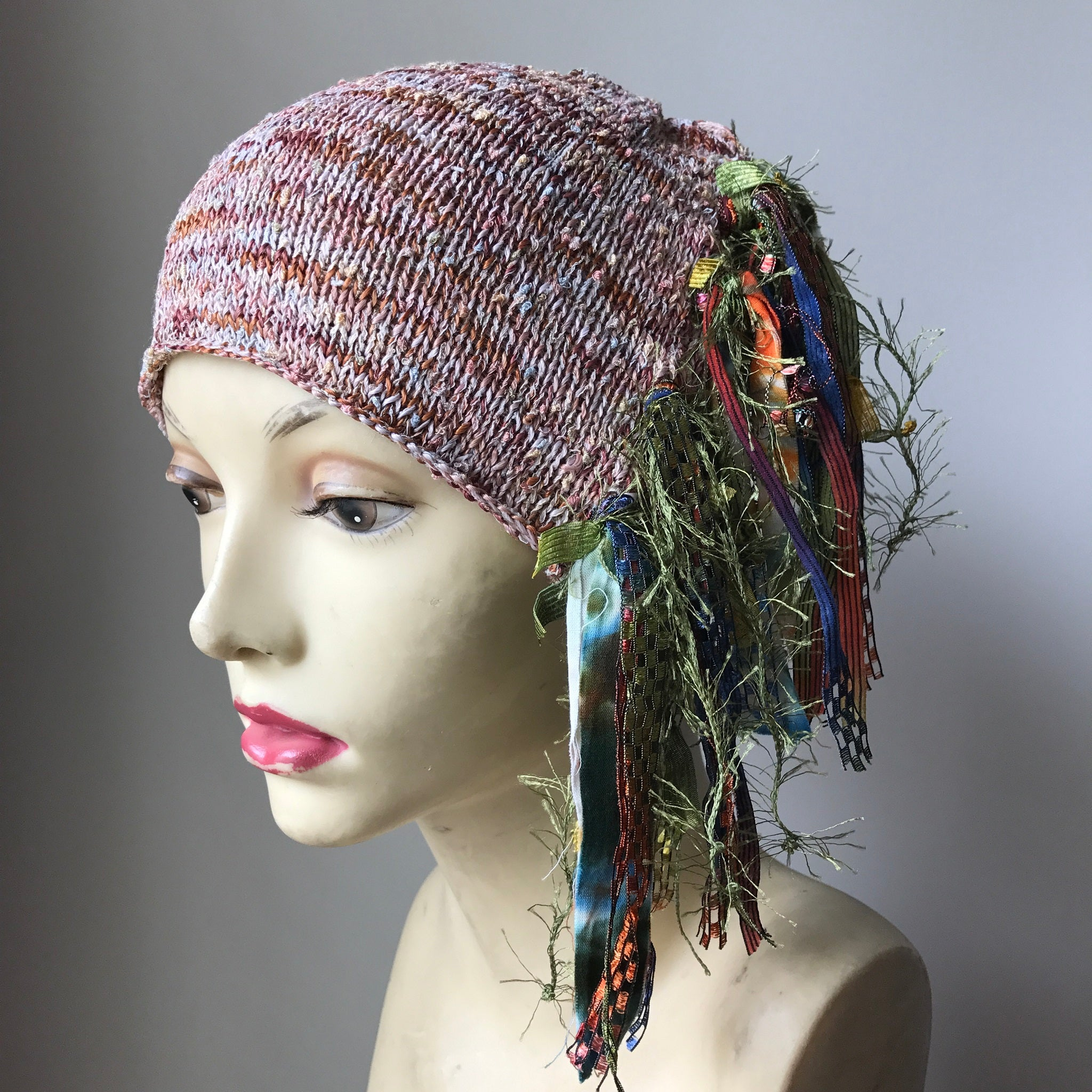 Natural Tone Tweed Funky Chic Hat, (FH33)