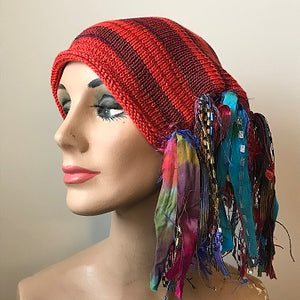 Red Tweed *Funky Chic Hat* (FH74)