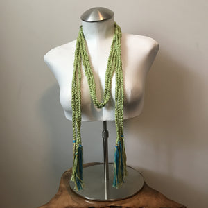 Green Tweed Boho Chic Fiber Necklace (FN5)