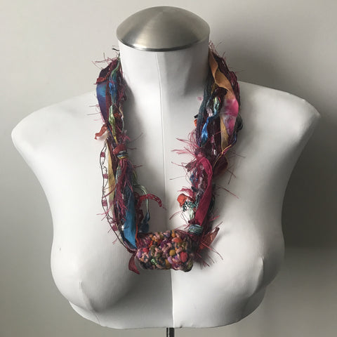 Colorful Fiber Necklace (FN706)