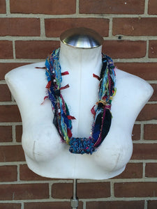 Blue Toned Fiber Necklace (FN95)