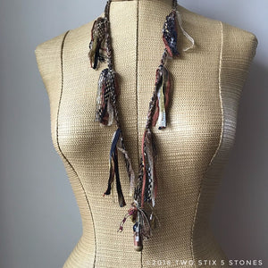 Brown Tweed Fiber Necklace (FSB19)