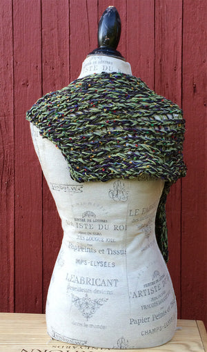 Green Tweed Shawl