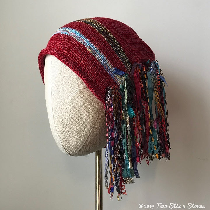 Red Tweed Signature *Funky Chic Hat*