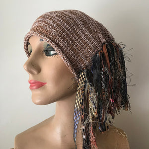 Tan Tweed *Funky Chic Hat.* (FH59)