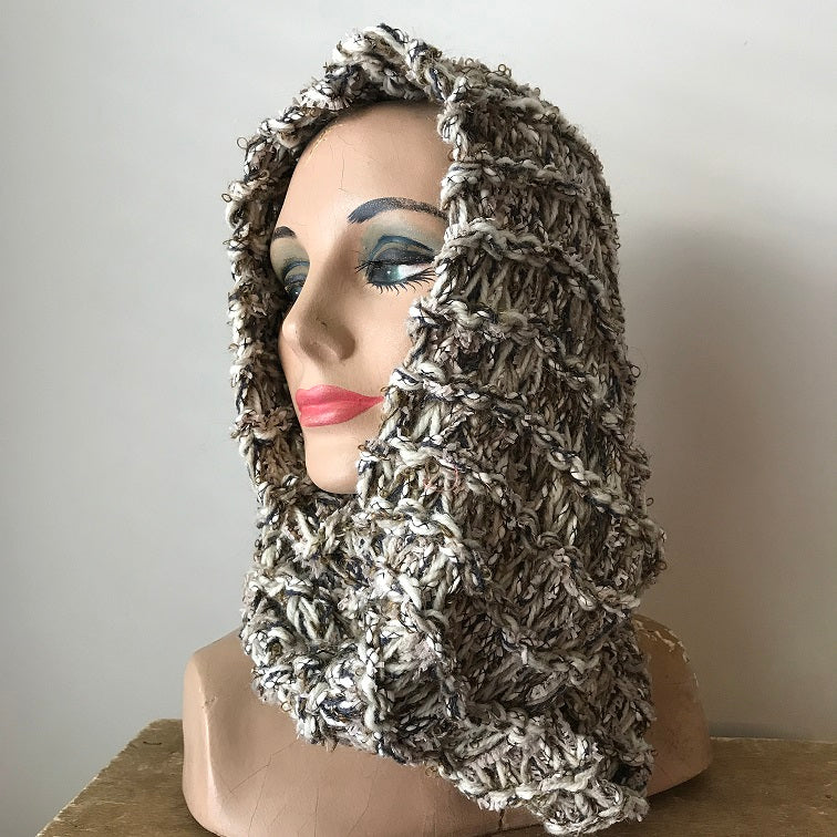Oatmeal Tweed Infinity Scarf (IS02)