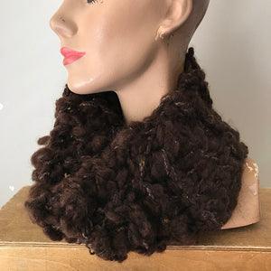 Chocolate Brown Tweed Neck Warmer (NW11)