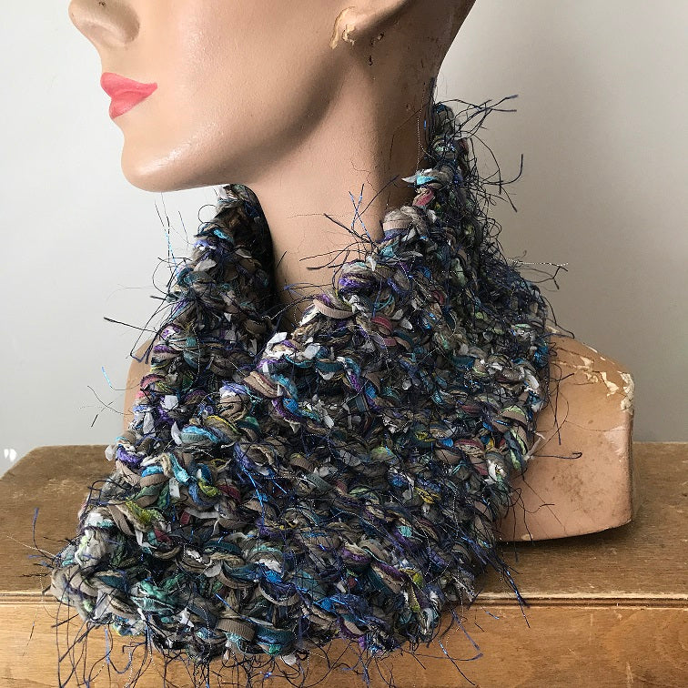 Blue Toned Neck Warmer w/Metallic Accents (NW15)