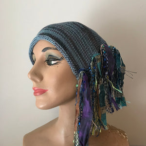 Blue & Purple Toned *Funky Chic Hat* (FH69)