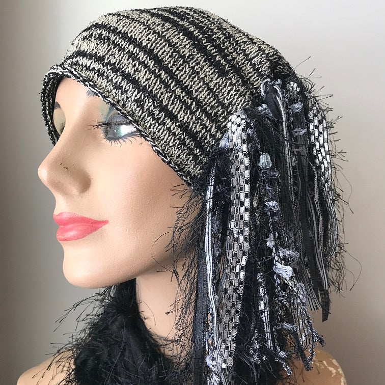 Black & Grey *Funky Chic Hat*, (FH80)