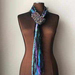 Purple & Blue Toned, Adjustable Scarf (AS51)