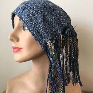 Blue Tweed, Funky Chic Hat, (FH95)