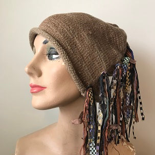 Brown Tweed, Funky Chic Hat, (FH91)