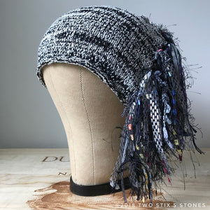 Black & White Tweed *Funky Chic Hat*