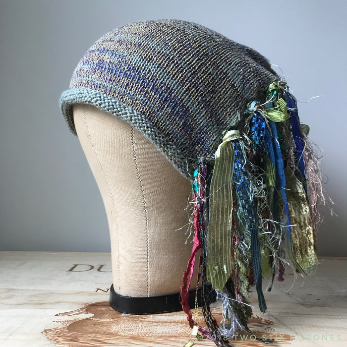 Mint Green Tweed *Funky Chic Hat*