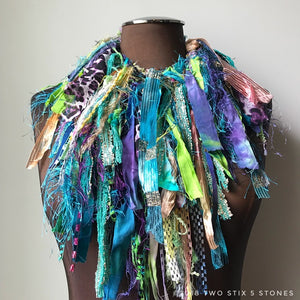 Electric Blues & Greens Exotic Scarf