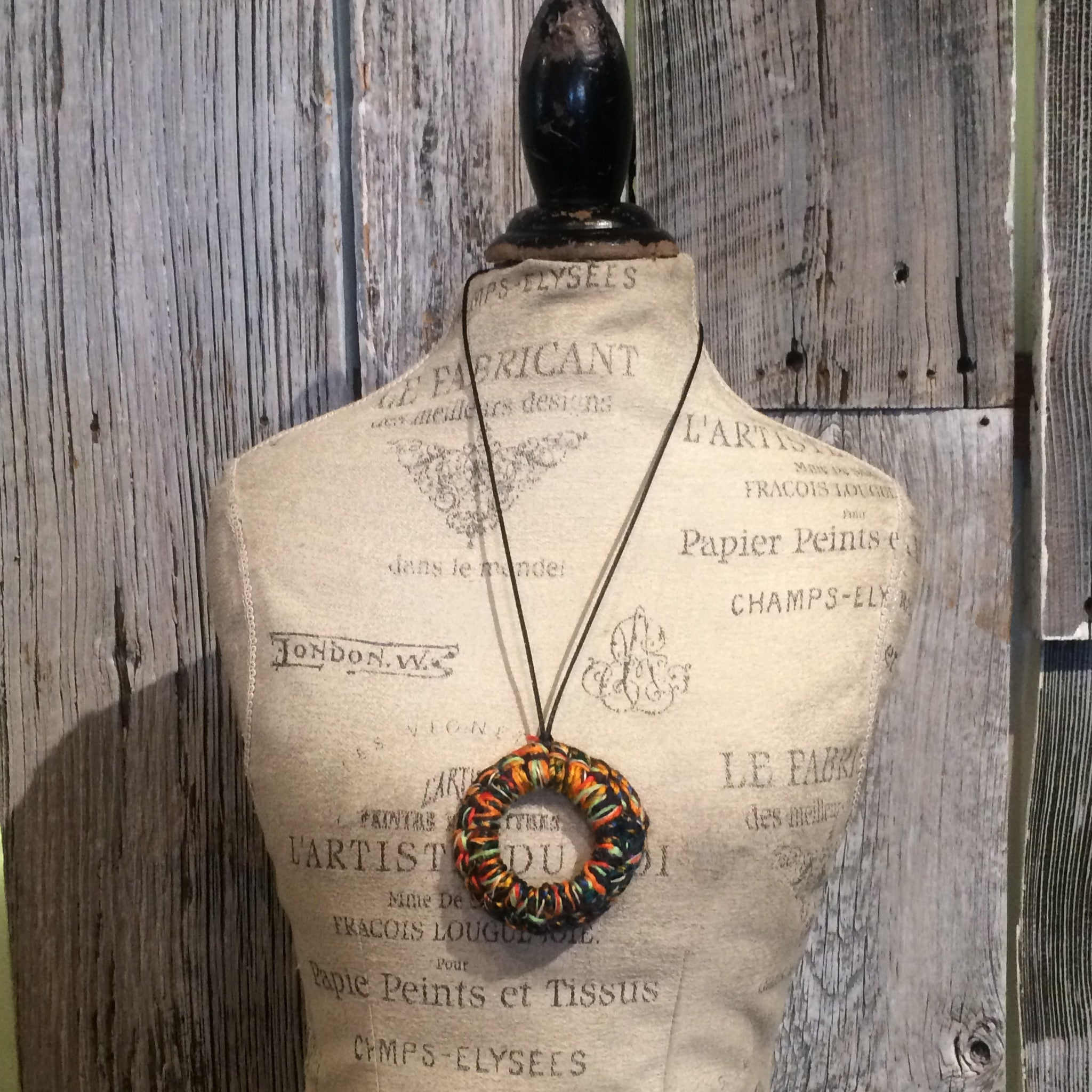 Boho Chic Fiber Necklace