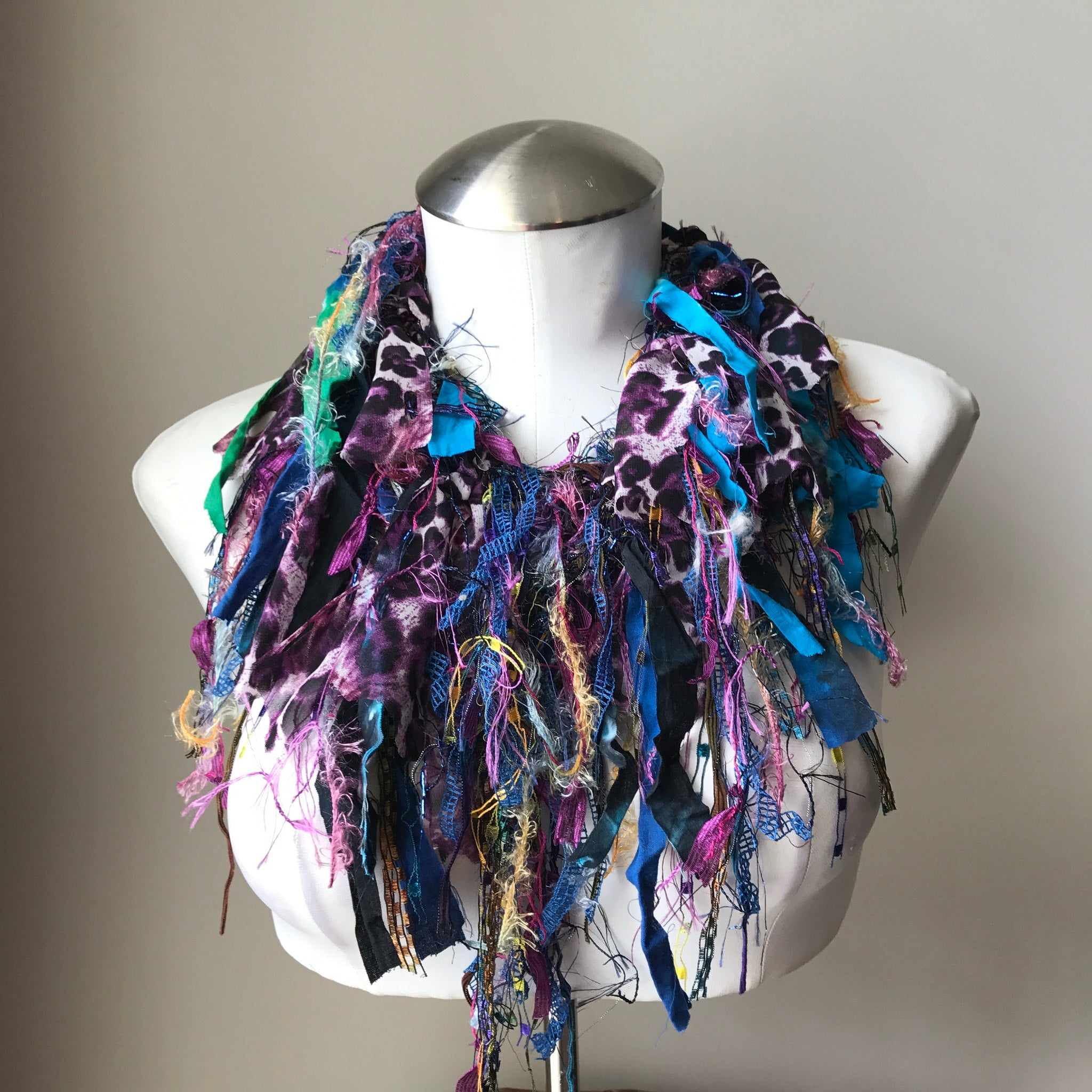 Purple & Blue Toned Exotic Scarf, (ES05)