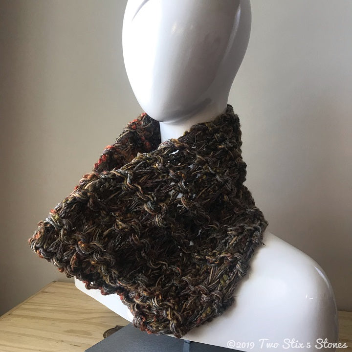 Brown Tweed Cowl/Neckwarmer