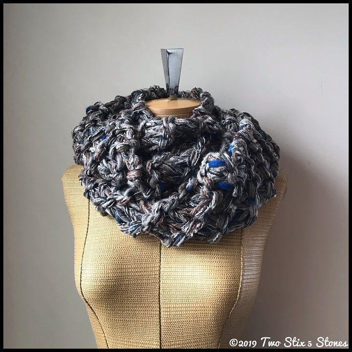 Luxe Grey Tweed Infinity Scarf