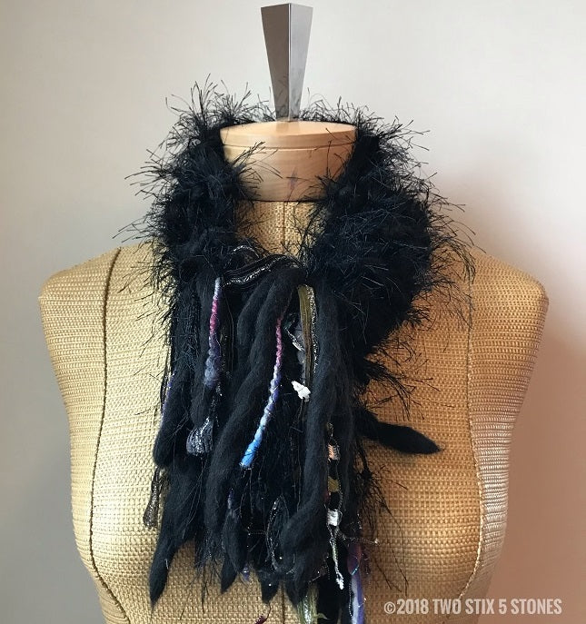 Black *Diva Chic* Slip Over Scarf