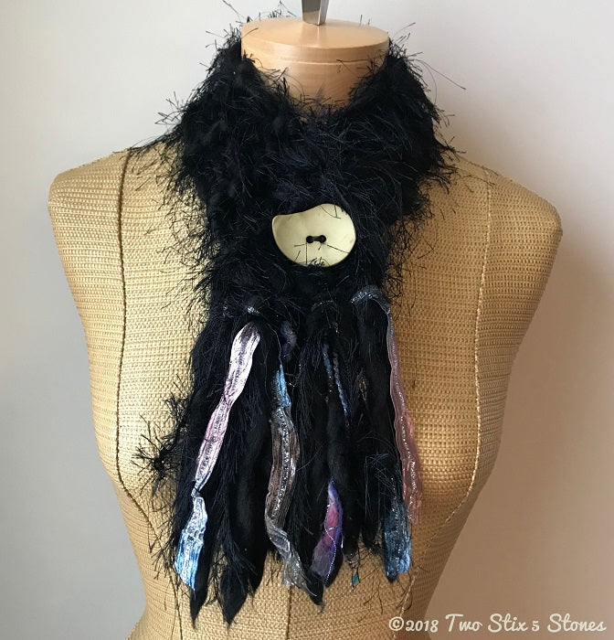 Black *Diva Chic* Scarf w/Button