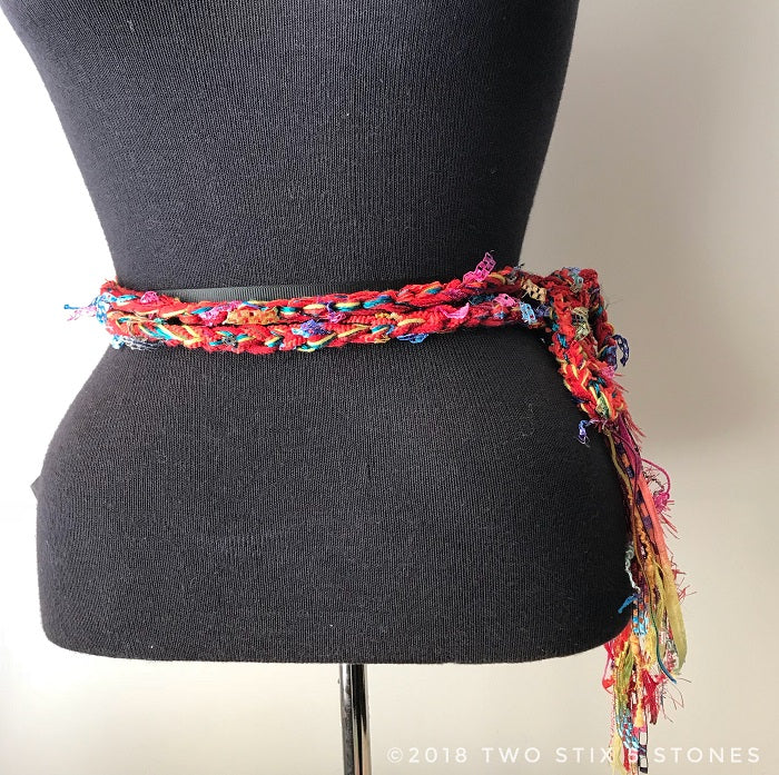 Red Tweed Scarf/Belt/Headband (TS013)