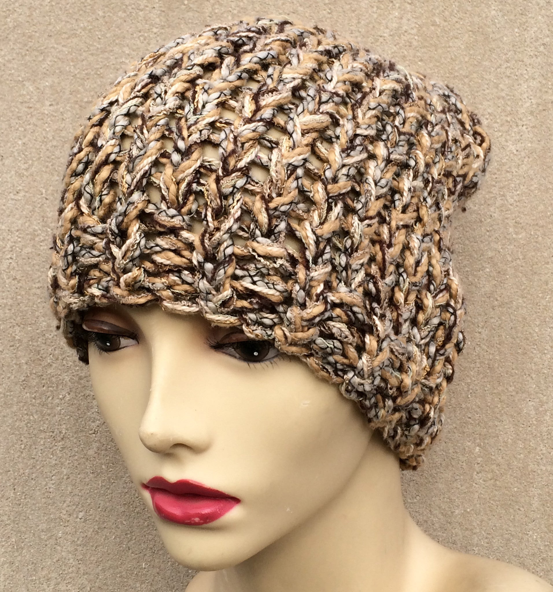 Tan Tweed Hat
