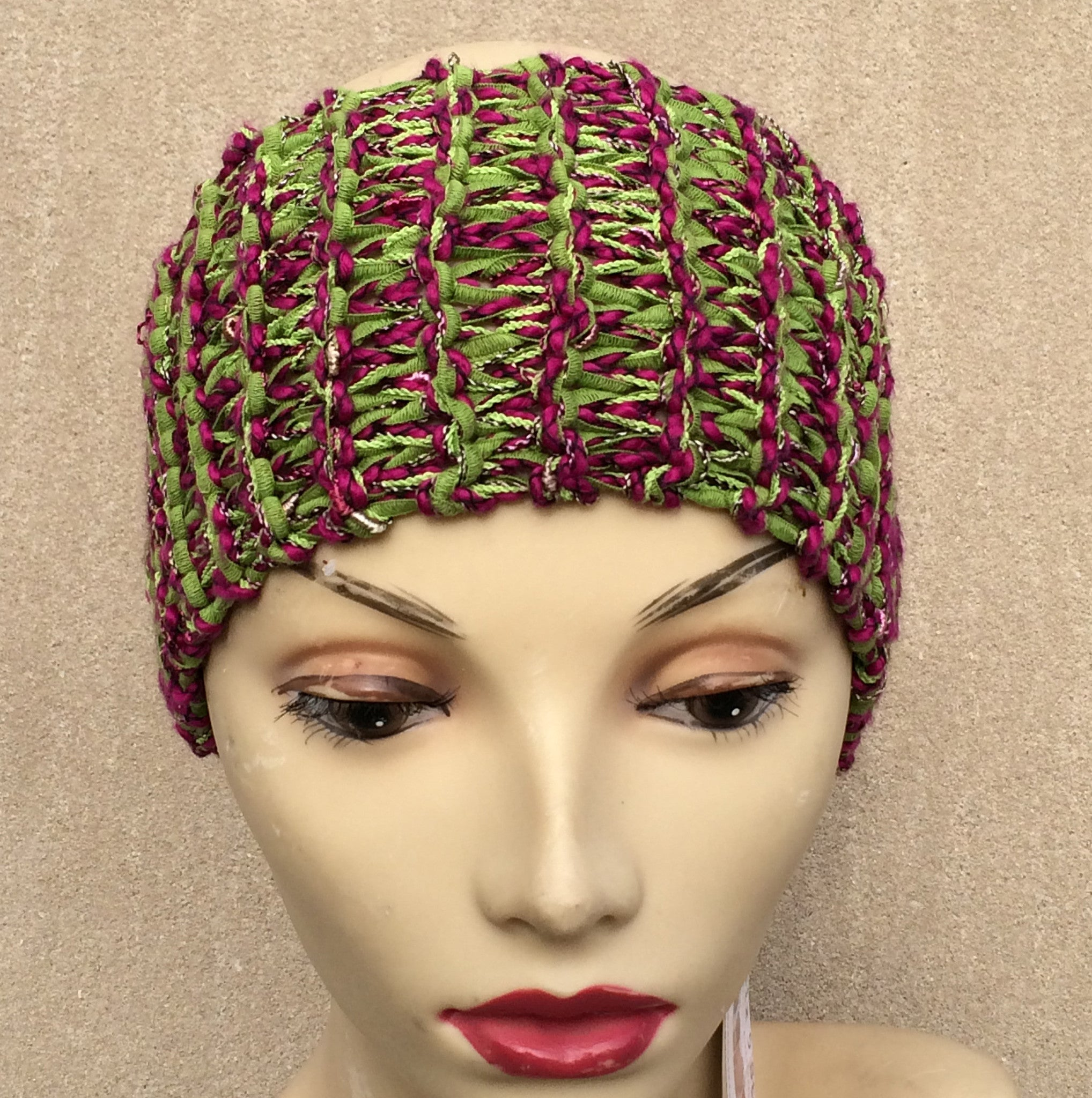 Cranberry Green Tweed Ear Warmer