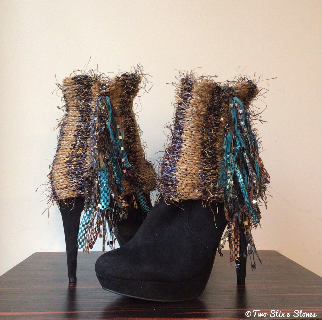 Luxe Mocha Tweed *Diva Chic* Boot Toppers