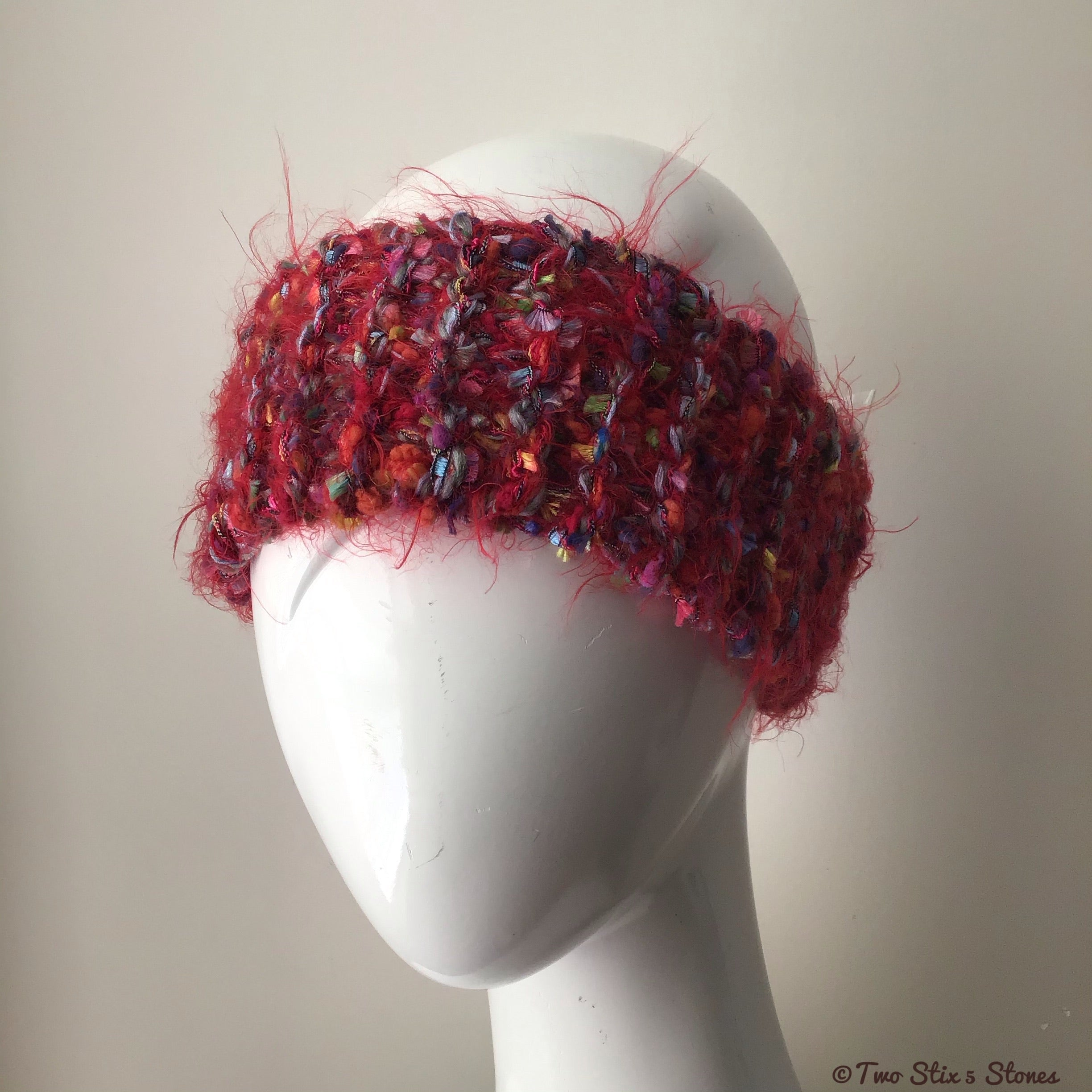 Red Tweed Headband