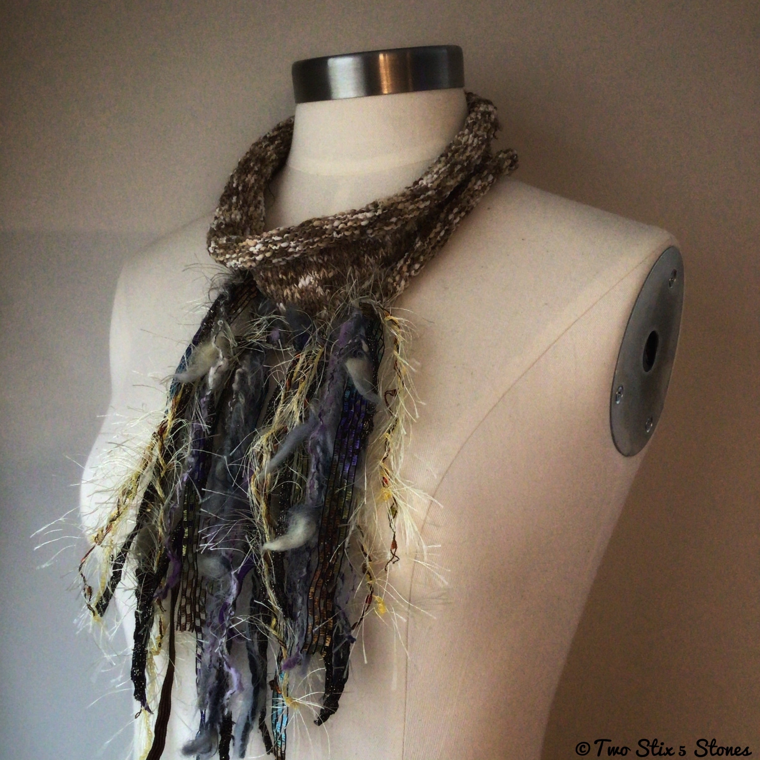 Oatmeal Tweed Decorative Scarf