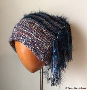 Luxe Lavender Tweed Signature *Funky Chic* Slouchy Hat