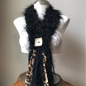 Black *Diva Chic* Scarf, (DS13)
