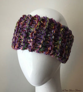 Purple Tweed Headband