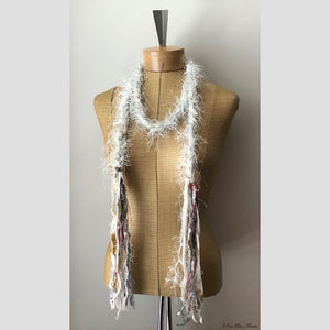 Winter White Decorative Scarf/Belt