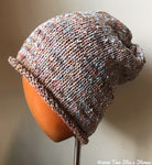 Lightweight Oatmeal Tweed Slouchy Hat