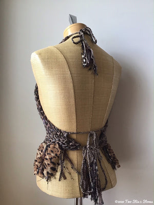 Luxe Chocolate Tweed Halter Top
