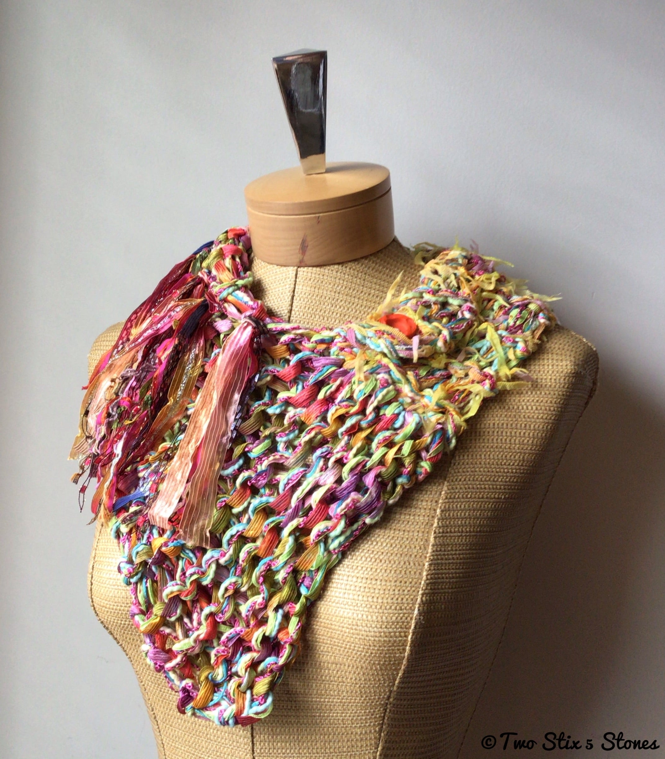 Yellow Tweed Shawlette
