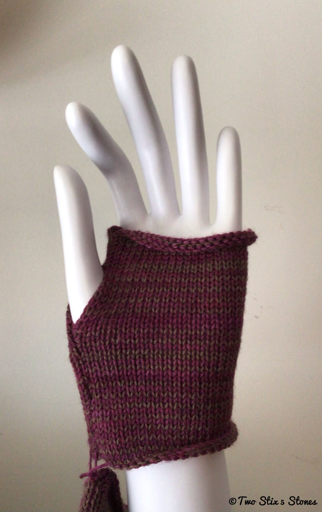 Mini Purple Tweed Fingerless Gloves